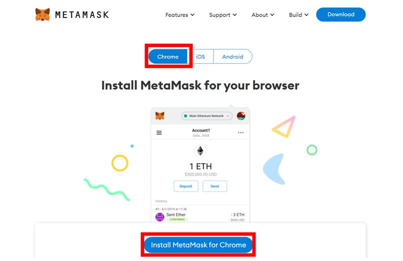 Install MetaMask for Chrome
